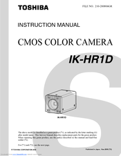 Toshiba IK-HR1D Instruction Manual