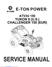 e ton yukon ii service manual pdf download rh manualslib com Yukon 150 ATV 2000 Eton Yukon 150 ATV