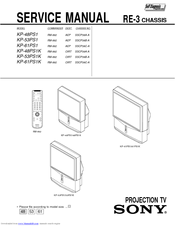 Sony KP-48PS1 Service Manual