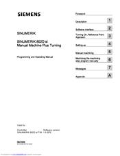 siemens sinumerik 802d sl manuals