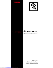 Toshiba Strata AirLink DK16 Quick Reference Manual