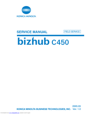 KONICA MINOLTA BIZHUB C450 SERVICE MANUAL Pdf Download