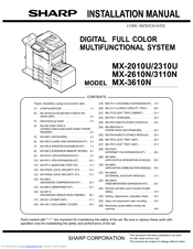 sharp mx 2610n manuals rh manualslib com Sharp MX 2600N PCL6 Driver Sharp MX 2600N PCL6 Driver