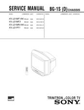 sony kv j21mf1ak service manual pdf download rh manualslib com sony crt tv service manual Sony TV Parts Manual