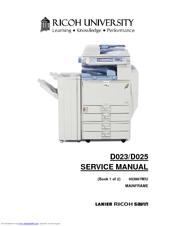 RICOH D025 SERVICE MANUAL Pdf Download