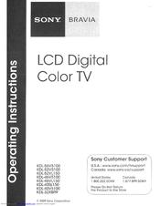 sony bravia kdl 46v5100 manuals rh manualslib com Sony BRAVIA Remote Manual Sony BRAVIA HDTV