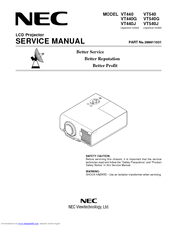 nec vt440g manuals rh manualslib com nec vt491 service manual