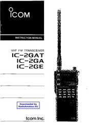ICOM IC-2GAT INSTRUCTION MANUAL Pdf Download