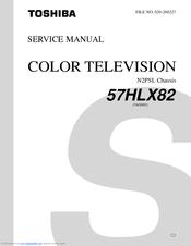 toshiba 57hlx82 manuals rh manualslib com 52HM95 Toshiba Manual TheaterWide Toshiba W603 Service Manuals Model