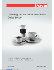 Miele Cva 6805 Operating And Installation Instructions Pdf Download