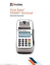 FIRST DATA FD100TI QUICK SETUP MANUAL Pdf Download