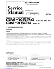 Pioneer GM-X524 Service Manual