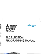 Mitsubishi Electric FR - F700 Programming Manual