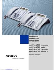 Siemens optiPoint 500 economy Operating Instructions Manual