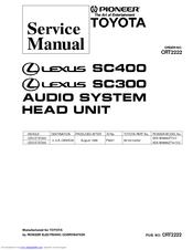 pioneer lexus sc400 manuals rh manualslib com 1995 Lexus SC400 1995 Lexus SC400