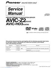 PIONEER AVIC-Z2/XU/UC SERVICE MANUAL Pdf Download