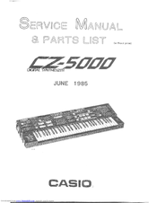 Casio CZ-5000 Service Manual & Parts List