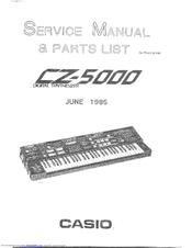 casio cz 5000 service manual parts list pdf download rh manualslib com casio cz 5000 manual en español Casio CZ 5000 Review
