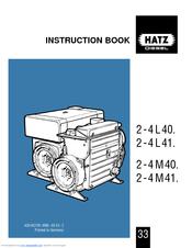HATZ 2 - 4 L 40 INSTRUCTION BOOK Pdf Download