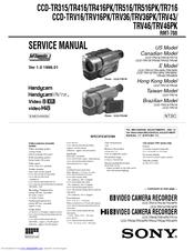 Sony    Handycam    CCDTR416 Manuals
