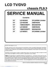 funai ld190em1 manuals rh manualslib com Emerson TV Buttons Emerson 32 Inch TV