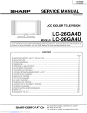 Sharp LC-26GA4U - AQUOS HDTV-Ready LCD Flat-Panel TV Service Manual