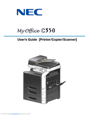 NEC MyOffice C350 User Manual