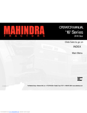 MAHINDRA '16' SERIES OPERATOR'S MANUAL Pdf Download