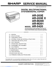 sharp ar m201 manuals rh manualslib com Sharp Microwave User Manuals Sharp Copy Hard Drive Removal