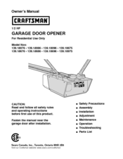 Craftsman 139 18096 Manuals
