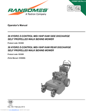 ransomes 36 hydro z control mid 16hp kaw side discharge self rh manualslib com ransomes mower manuals 934004 ransomes mower parts uk