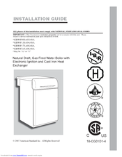 American Standard Agbwf130a94ava Manuals