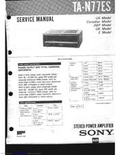 Sony TA-N55ES   Bedienungsanleitung Operating Instuctions Manual