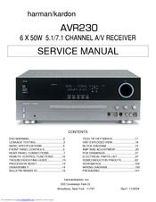 harman kardon avr230 service manual pdf download rh manualslib com harman kardon 730 service manual harman kardon pm 650 service manual