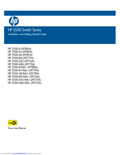 HP 2530-48G Installation And Getting Started Manual