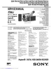 sony digital handycam dcr trv310 manuals rh manualslib com sony dcr trv38 manual sony dcr trv20 manual