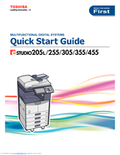 TOSHIBA 205L Quick Start Manual