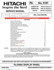 hitachi 42hdt51m manuals rh manualslib com Hitachi Service Manuals HA6 Hitachi Excavators Service Manual