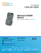 Motorola Symbol CS3000 Series Manual