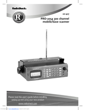radio shack pro 2054 manuals rh manualslib com Radio Shack Parts Replacement Motorola BT51 Battery Radio Shack