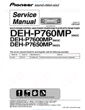 pioneer deh p7600mp manuals rh manualslib com Pioneer Deh P7600mp Manual Pioneer 7600Hd