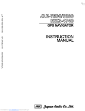 JRC JLR-7500 - Instruction Manual
