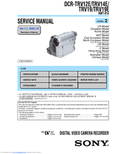Sony DCR-TRV19 Manual de instrucciones / Manual de instruções Service Manual
