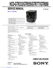 sony hcd gtr777 hcd gtr888 manuals rh manualslib com sony manual slv-799 sony manual slv-799