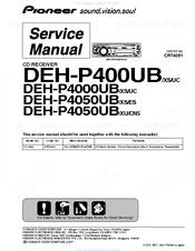 PIONEER DEH-P4050UB/XS/ES SERVICE MANUAL Pdf Download | ManualsLibManualsLib