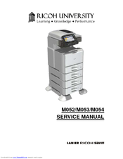 RICOH M052 SERVICE MANUAL Pdf Download