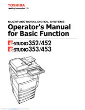 toshiba e studio 453 manuals rh manualslib com Toshiba Satellite Service Manual For Toshiba TV Manuals