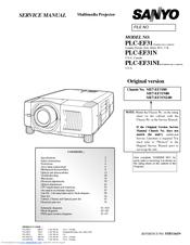 sanyo plc ef31 manuals rh manualslib com Troubleshoot Sanyo XGA Projector Sanyo XGA Projector Manual