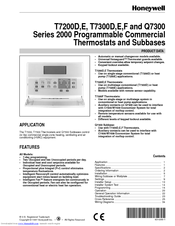honeywell t7300f manuals rh manualslib com Honeywell Commercial Thermostat Honeywell Thermostat Wiring Heat Pump