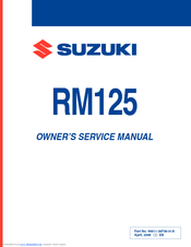 SUZUKI RM125 OWNER'S SERVICE MANUAL Pdf Download